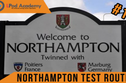 northampton driving test route
